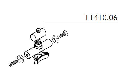 Tacx T1410.06 Spacer M8 (Barrel Nut That Slides Into Brake Units)