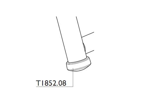 Tacx T1852.08 Rubber Foot Satori Bushido Rear