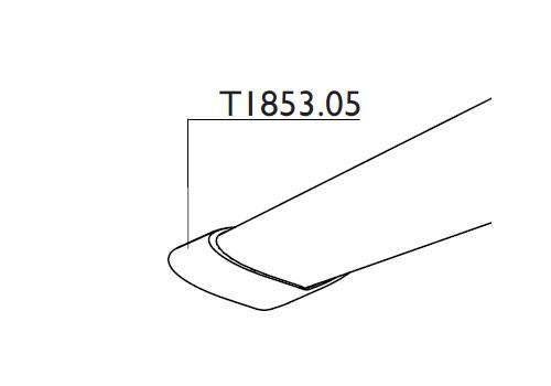 Tacx T1853.05 Rubber Foot Satori Bushido Front