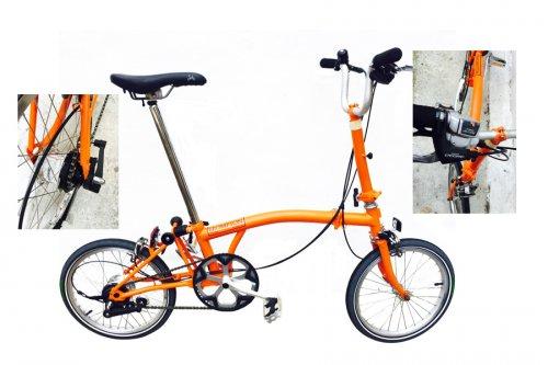 Fudges Brompton S11L Black Custom 11 Speed Alfine Folding Bike