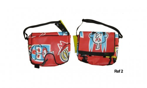 Demano Brompton Messenger Bag Face Design