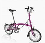 2016 Brompton M3L Berry Crush