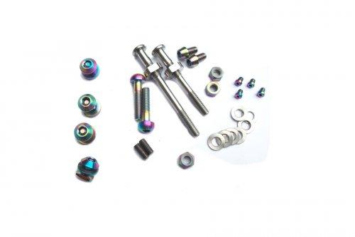 Ti Parts Workshop Caliper Rainbow Bolt Set