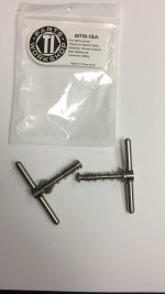 Brompton Tibolts Washer Hinge Clamp Set Silver