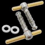 For Brompton Tibolts & Washer Hinge Clamp Set (balance Version) (gold&silver) (45g)