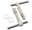 Tibolts With Carbon Lever Washer Hinge Clamp Set