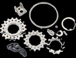 Brompton 2/6spd Ti Rear Cassette Sprockets With Chain Pusher (12t/15t/18t) (61.2g)