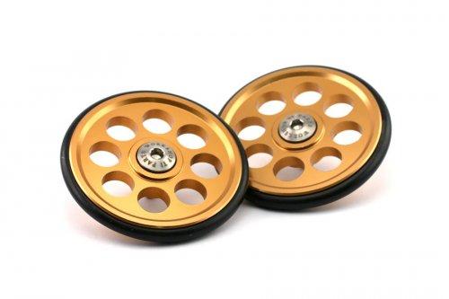 Ti Parts Workshop Aluminium Brompton Easy Wheels Gold