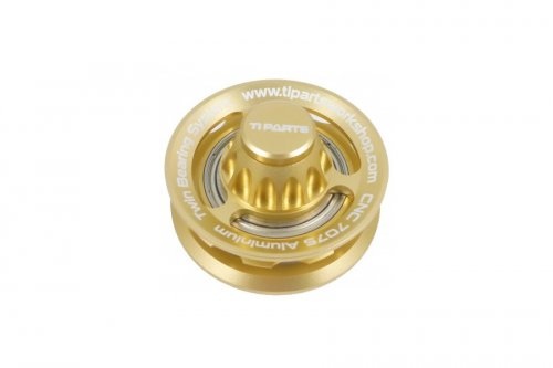 Ti Parts Workshop Chain Tensioner Wheel Ti Axle Gold