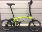2017 Brompton M6L Black Edition Lime Green
