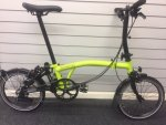 2017 Brompton Black Edition S6L Lime Green