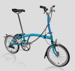 2017 BROMPTON M6L LAGON BLUE Free Bag