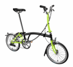 2017 BROMPTON M6L Black/Lime Green Free Bag