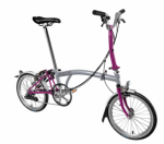 2017 Brompton M6L Grey Berry Krush Free Bag