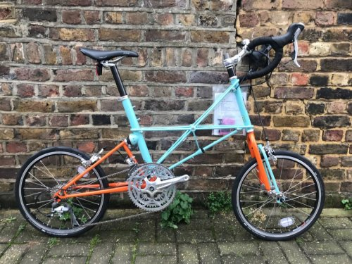 Moulton TSR 30 Special Edition Mint/Orange bike