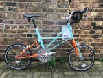 Moulton TSR 30 Special Edition Mint/Orange bike