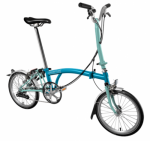 2017 Brompton M6L Lagoon BLue /Turkish Green