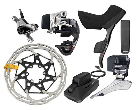 SRAM Red eTap Group with Hydraulic Post Mount Disc Brakes
