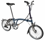 2018 Brompton M6L Tempest Blue Superlight