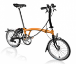 2018 Brompton S6L Black ED Orange