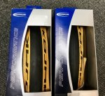 2 x Schwalbe Kojak Tan wall for Brompton 16 1/3/8