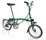 2019 Brompton M6L Racing Green With Battery Lights