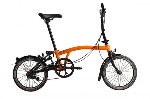 Brompton M6L Black Edition Orange Gloss Black