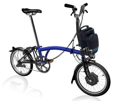 Brompton Electric M6L Blue Bolt Lacquer
