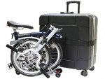 B&W International Foldon Case Brompton Folding bike Case 4 Wheels