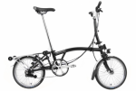 2021 Brompton M6R Black Dynamo Lights + Extras